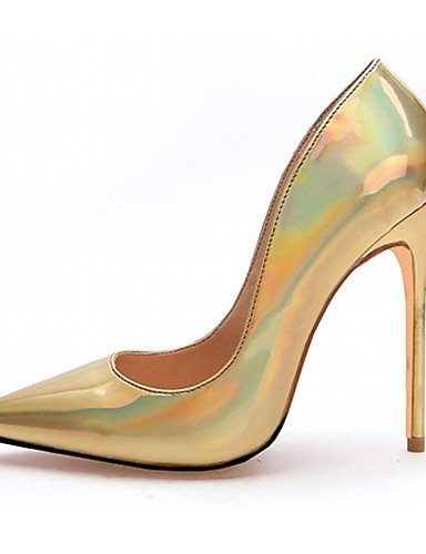 GGX/ Damenschuhe-High Heels-Hochzeit / Büro / Kleid / Lässig / Party & Festivität-Lackleder / Mikrofaser-Stöckelabsatz-Absätze-Silber / Gold golden-us4-4.5 / eu34 / uk2-2.5 / cn33