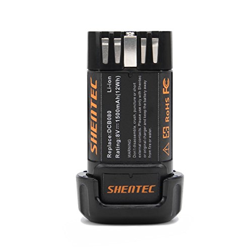 (Shentec 1500mAh 8-Volt Replacement Battery Compatible with DEWALT DCB080 Dewalt DCF680N1 DW4390 DCF680N2 DCF680G2, Li-ion Battery)