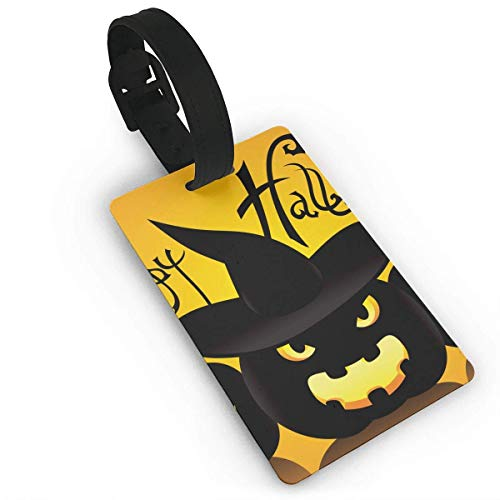 Fibpaecei Cat Artwork Notation Tune Children Halloween Luggage Bag Tags Travel ID Identification Labels Set for Bags & Baggage for $<!--$5.99-->