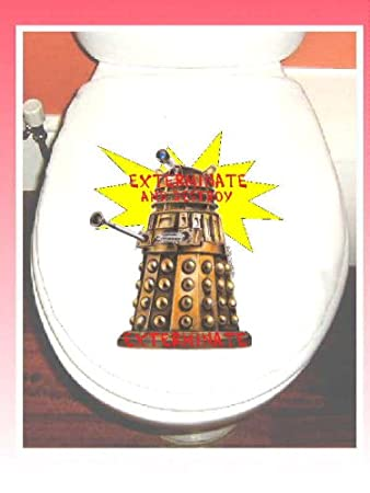 toilet seat covers uk. DOCTOR WHO DALEK COTTON TOILET SEAT COVER  Amazon co uk Kitchen