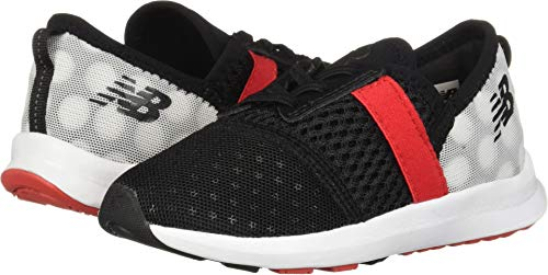 New Balance Girls' Nergize V1 FuelCore Cross Trainer, Black/red, 8 M US Toddler -