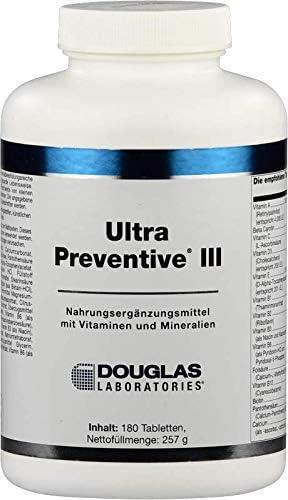 Douglas Laboratories - Ultra Preventive III - Nahrungsergänzungsmittel mit Vitaminen, Mineralstoffen und Aktiver Folsäurequelle - 180 Tabletten