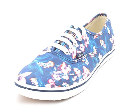 Vans Frauen Authentic Lo Pro Leinen Fashion Sneaker (Blurred Floral) Poseidon