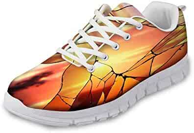 new arrival b7777 81b96 EnlaMorea Men Women Fashion Sneakers Lightweight Breathable Mesh Gym Casual  Shoes
