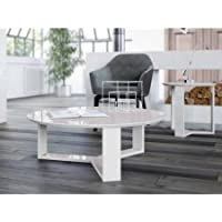 Manhattan Comfort Madison 1.0 35.78 Round Accent Coffee Table, Off White