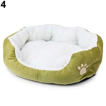 MFEIR Cama Gato Nido para Mascotas Cama de Perro Cálido Nido Algodón,Verde Grande: Amazon.es: Hogar