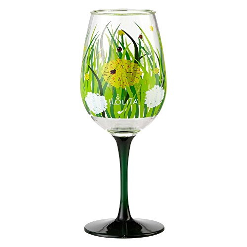 Enesco Designs by Lolita Dandelion Acrylic Wine Glasses, Set of 2, 16 oz.