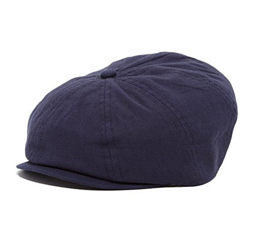 - Born to Love - Toddler and Boy's Hat Newsboy Cap (NB (43 cm), Navy Linen)