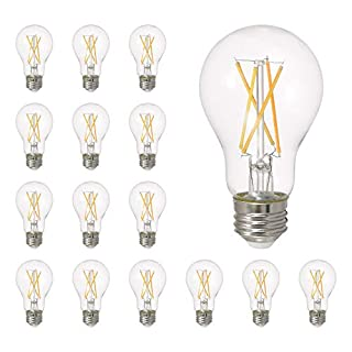 SYLVANIA General Lighting 40809, Daylight SYLVANIA LED A19 Natural Series Light Bulb, 60W Equivalent, Efficient 8W, Dimmable, Clear Finish, 5000K Color Temperature, 16 pack