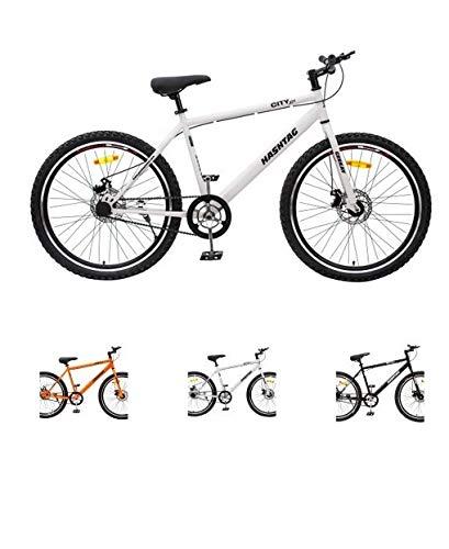 Buy GEEKAY BIKES Steel Bicycle Hashtag (26, Black-White-Orange-Yellow) Online at Low Prices in India - Amazon.in