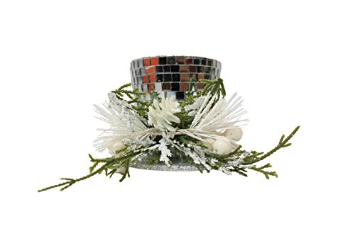 Floral Decorative Disco Style Top Hat Christmas Tree Ornament