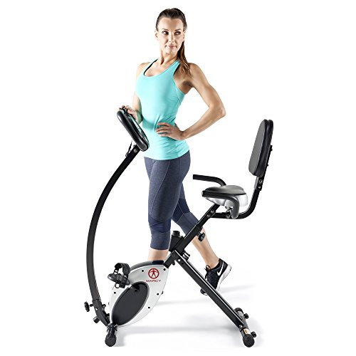 Marcy Recumbent Exercise Bike Ns 716r: Marcy Foldable Recumbent Exercise Bike With High Backrest