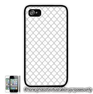 Gray Grey Diamond Fence Pattern Apple iPhone 4 4S Case Cover Skin Black