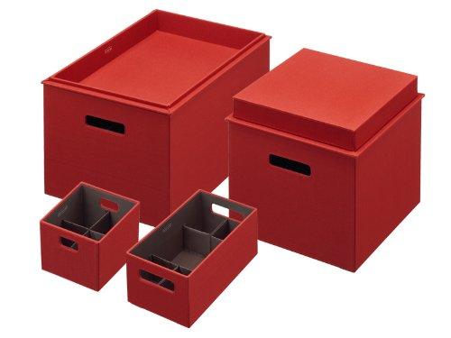Rubbermaid 1812396 Bento Storage Box with Flex Dividers, 4-Piece Value Pack, Paprika (Storage 6 Unit Wicker Drawer)