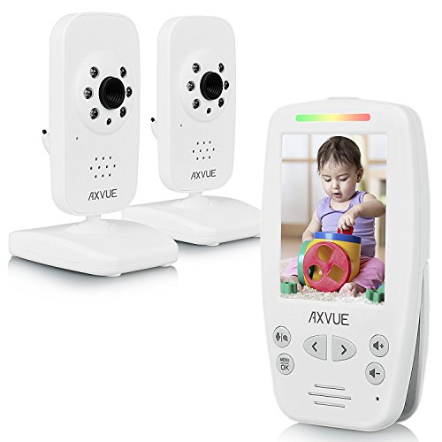 "AXVUE E662 Video Baby Monitor with Two Cameras and 2.8"" LCD,"