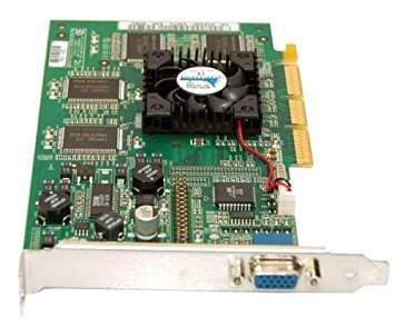 NVIDIA DELL 32MB VGA AGP Video Card, CN-01E200-44571, 180-P0020-0100-E05 W/Fan Assy ()