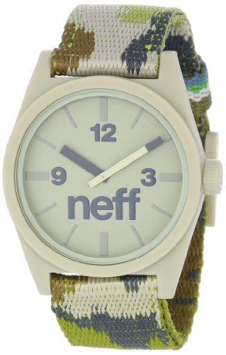 Neff Men's NF0209-camo Custom Designed Neff and Nylon Strap Camo Watch