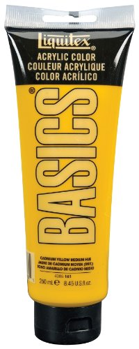 Liquitex BASICS Acrylic Paint 8.45-oz tube, Cadmium Yellow Medium Hue
