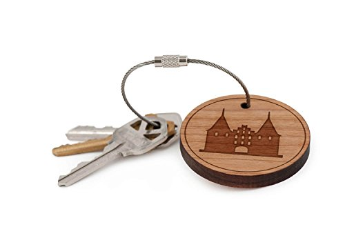 holsten-gate-keychain-wood-twist-cable-keychain-small