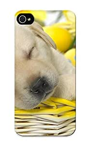 23a962c4453 Case Cover Golden Retriever Puppy Sleeping In A Basket Compatible With Iphone 5/5s Protective Case