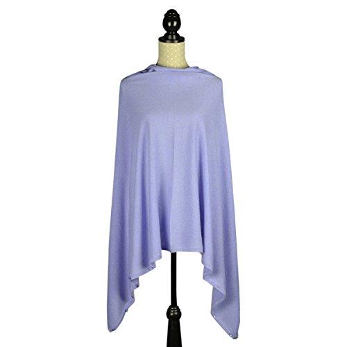 Lilas Châle poncho cape à boutons multiposition en cachemire tricotés