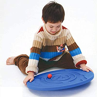 BOLLAER Children Maze Balance Board, Kids Labyrinth Balance Board Sport Toy Home Body Building Physical Plate Tool: Toys & Games