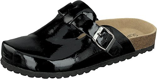 Calzado Andar En Supersoft 125 Piel 276 Casa Zapatillas Brillante Plantilla Por De Negro dpnqSt
