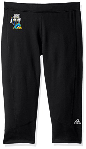 adidas Adult Women Team Logo Techfit Solid 3/4 Tight, Black, Medium ()