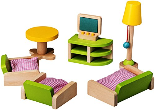 Wooden Living Room Doll House Furniture By Dragon Drew (10 PC (Doll Living Room)