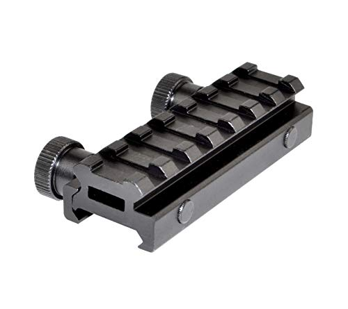 "Sniper-Grunt Low Profile 7-Slot Picatinny Rail Riser Mount, 0.50"""