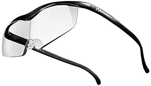 Hazuki rupe Large Clear Lens 1.6 times Black 2017 Model Blue Light 35% Cut by Hazuki