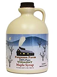 Ferguson Farms 100% Pure Vermont Maple Syrup, Grade B, Jug Half Gallon (64oz)