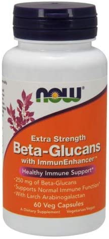 Now Foods Beta-Glucans with ImmunEnhancer 250mg – 60 Vcaps 3 Pack