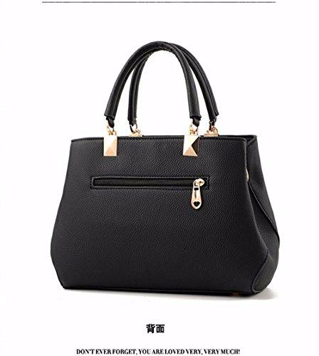 de La Bolsa de de Moda de Crossbody Asas Las Crossbody la negro Bolso del del Negro Mujeres Bag CCZUIML Diamante nFwxOO