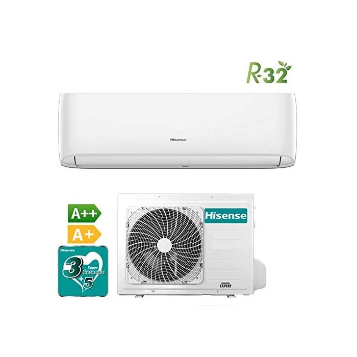 41qZXtmNLoL Aire acondicionado Inverter. Tecnología Inverter DC, gas ecológico R32. Bomba de calor + deshumidificador/calefacción y refrigeración.