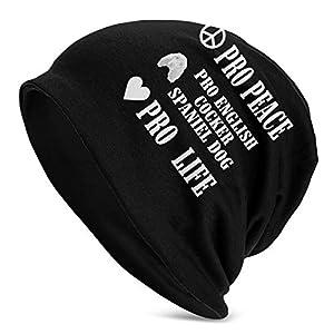 Pro Peace Pro Life Pro English Cocker Spaniel Dog Unisex Knit Hat Soft Stretch Beanies Skull Cap Hedging Cap,Beanie Hat 1