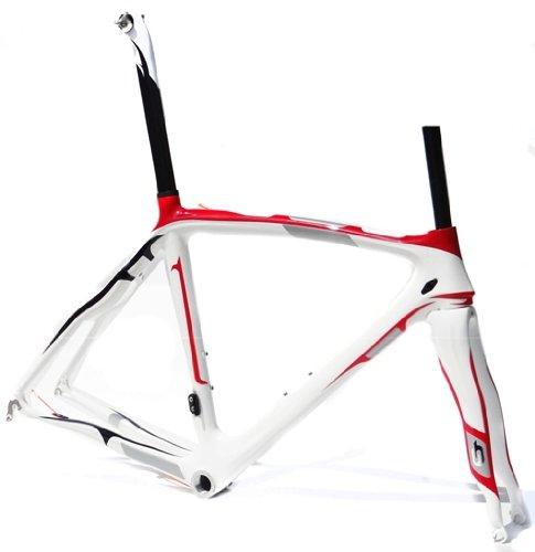 Full Carbon Road Bike Frameset : 50cm Frame Fork Seatpost Clamp Headset