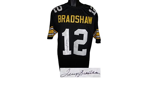 a3a591fdd Terry Bradshaw Signed Autograph Black Custom Throwback Stitched Pro Style  Football Jersey XL- JSA Hologram at Amazon s Sports Collectibles Store