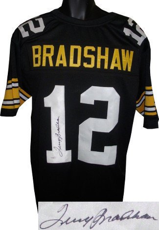 795dfb9be Image Unavailable. Image not available for. Color  Terry Bradshaw Signed  Autograph Black Custom Throwback Stitched Pro Style Football Jersey XL- JSA  ...