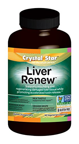Crystal Star Herbal Vitamins (Crystal Star Liver Renew Herbal Supplements, 90 Count)