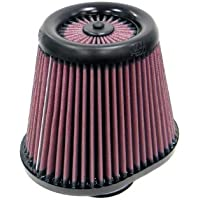 K&N RX-4750 Universal X-Stream Clamp-On Air Filter: Oval Straight; 3 in (76 mm) Flange ID; 6.5 in (165 mm) Height; 8 in x 6 in (203 mm x 152 mm) Base; 5 in x 5 in (127 mm x 127 mm) Top
