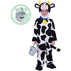 Spooktacular Creations Child Cow Costume (3T) White