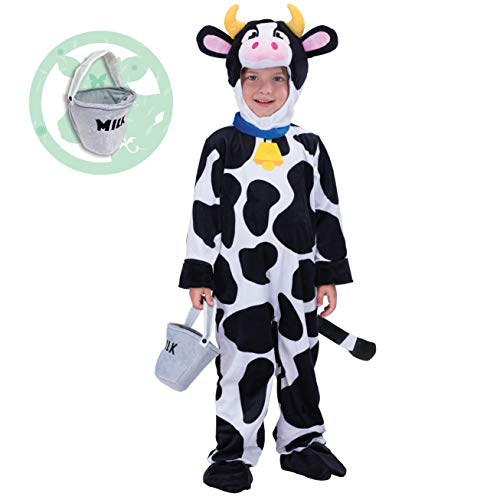 Spooktacular Creations Child Cow Costume (3T) White -