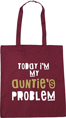 x38cm Beach Bag HippoWarehouse My Gym 42cm Burgundy Problem Shopping Today I'm Auntie's litres Tote 10 nxq8xzCPZw