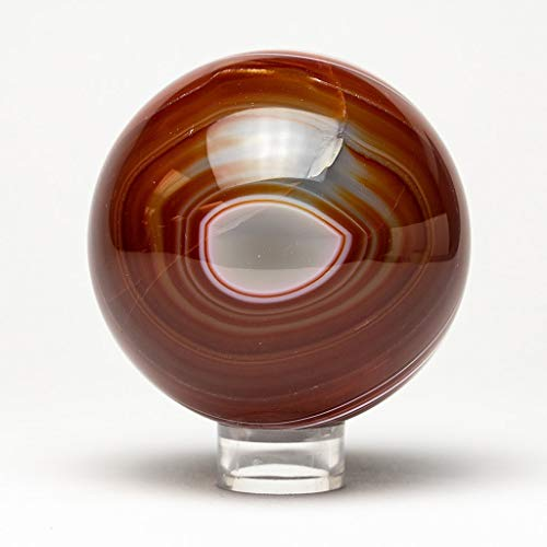 Brown Agate Sphere - Astro Gallery of Gems Polished Brown Agate Sphere (3