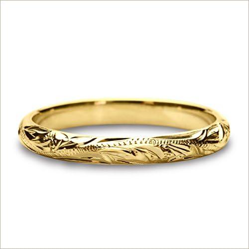 ハワイアンジュエリー リング 指輪 シルキーゴールドリング (その他のサイズ希望/サイズ測り貸出し希望) レディース メンズ ペアリングに最適 arig6521