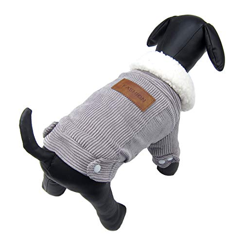 Alfie Pet by Petoga Couture - Hayes Fleece-Lined Winter Coat - Color: Grey, Size: Large