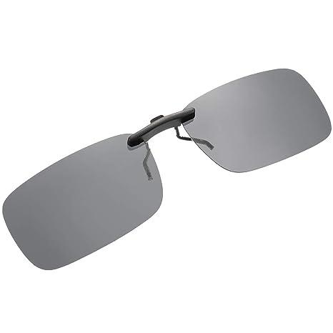 f8070b4a73 SKYSPER Gafas de Sol Polarizadas Clip Lentes de Espejo de Retro Vintaje  Marco de Metal Hombre