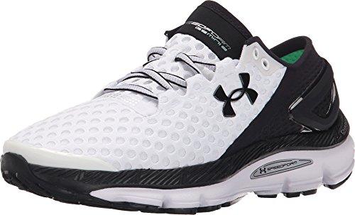 (Under Armour Women's UA Speedform Gemini 2 Running Shoes (6.5) White/Black/Black)