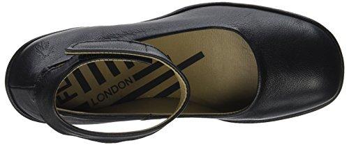 London Nero Cinturino con Fly Black Caviglia Jynx877fly alla Scarpe Donna 7fgccq1dw